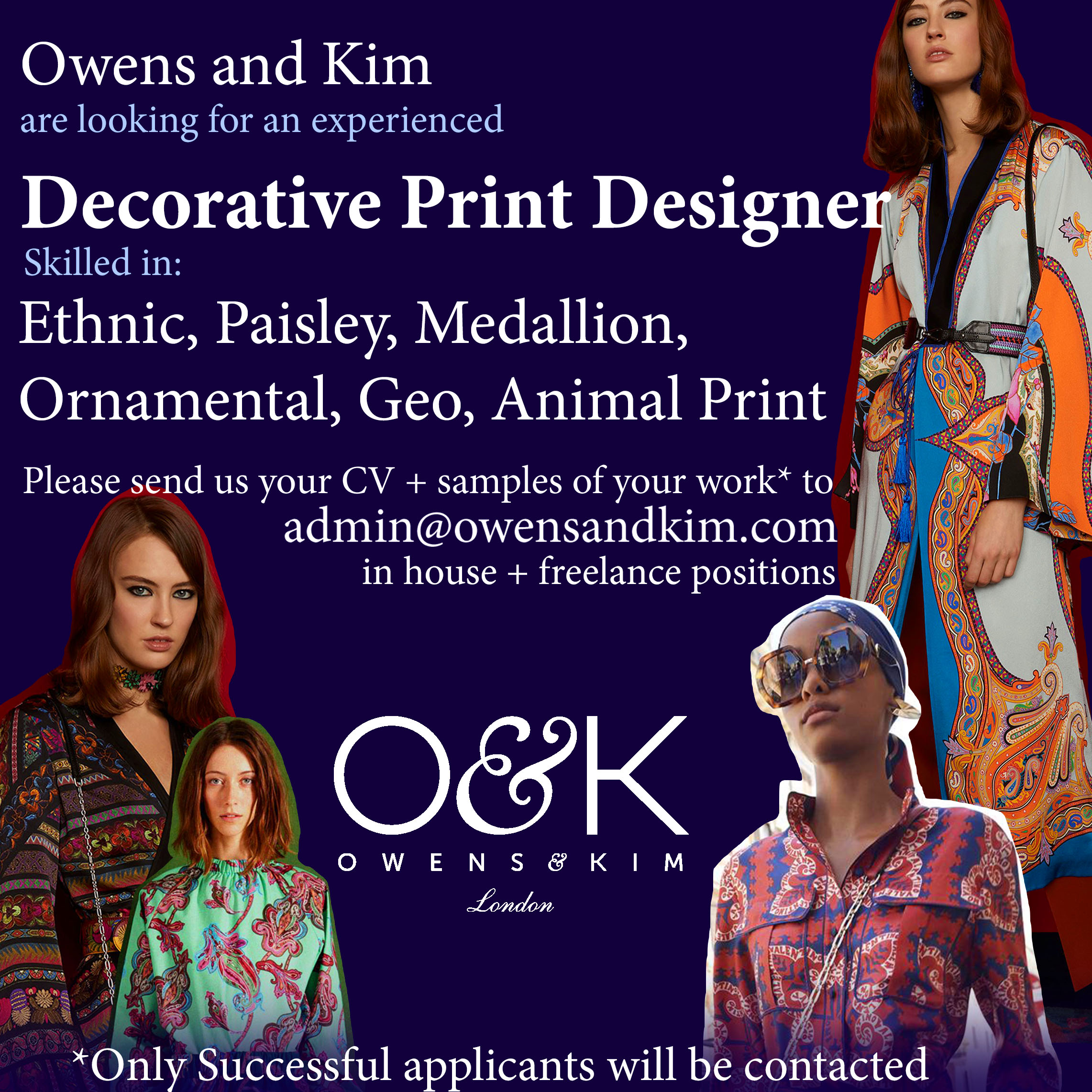 Charming Weu0027re Looking For A Decorative Print Designer!